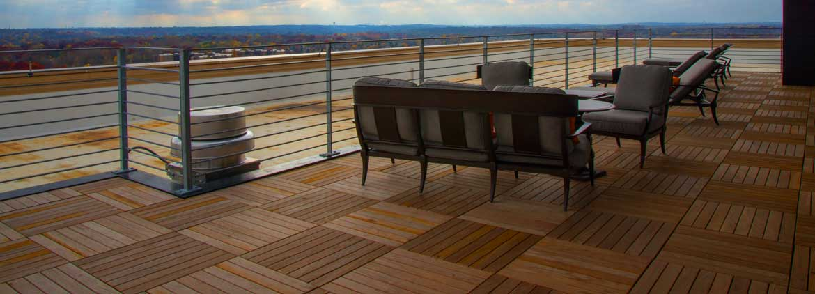 structural solid wood deck tiles